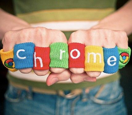 google chrome fingers bands