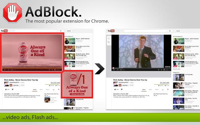 Adblock extension chrome