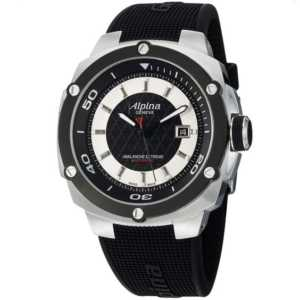 Alpina Adventure Extreme Black and Silver Dial Rubber Mens Watch AL525LBS5AE6