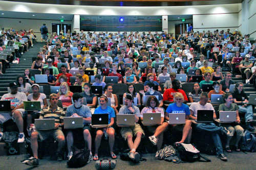 College Students Apple Computer Class