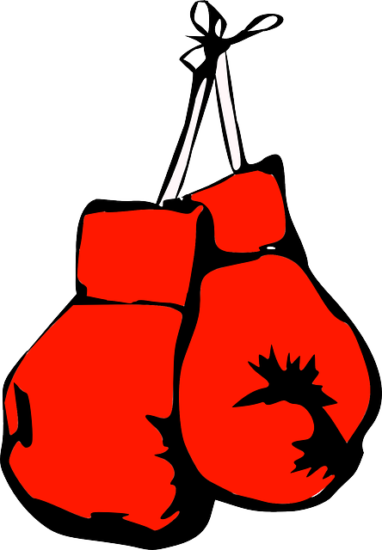 Drawing boxing gloves boxer