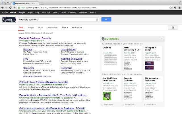 Evernote Web Clipper Google