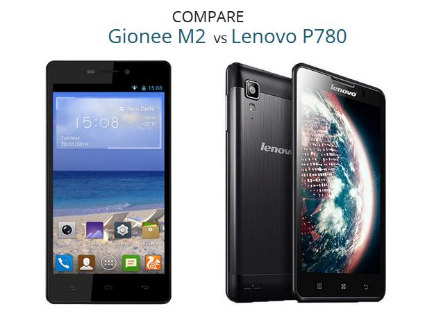 Lenovo P780 VS Gionee M2