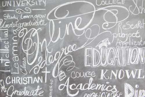 Online Education Chalkboard