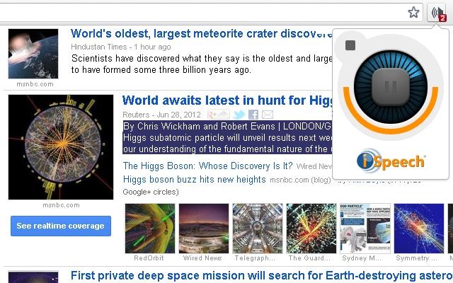 SpeakIt! Google Chrome