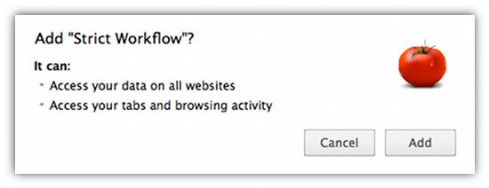 Strict WorkFlow Chrome
