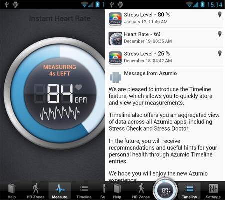Instant Heart Rate app