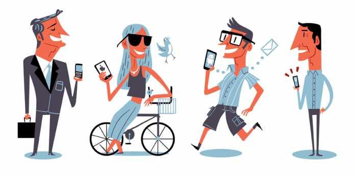 phones in hands