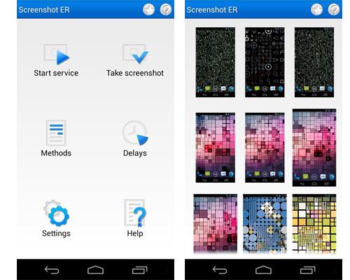 Screenshot ER app