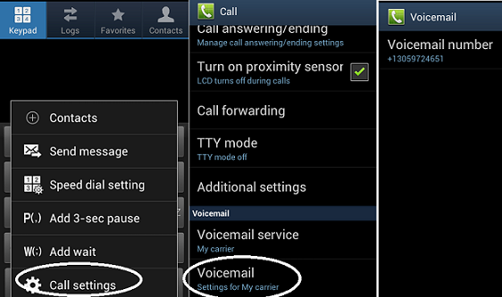 voice mail ANDROID CALLS